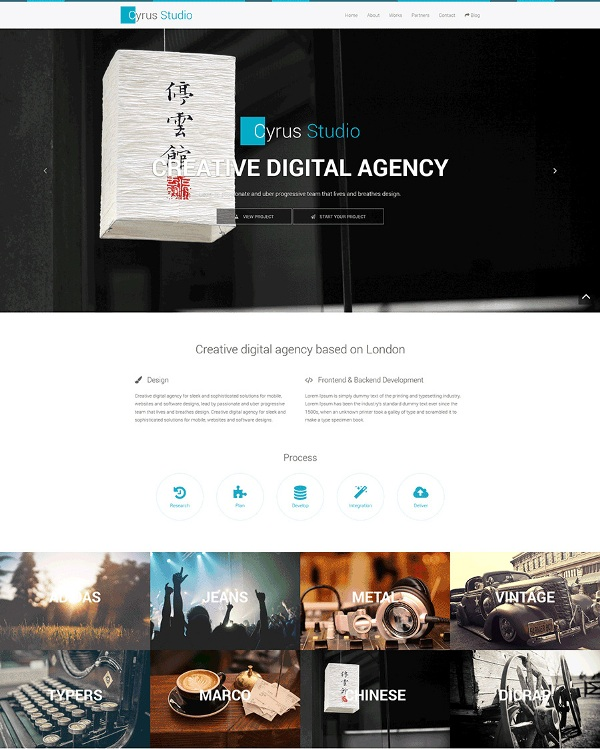 Free bootstrap agency template