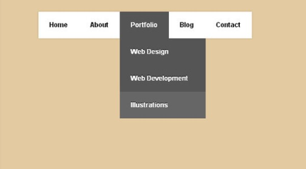 Another simple yet amazing dropdown menu in pure CSS3