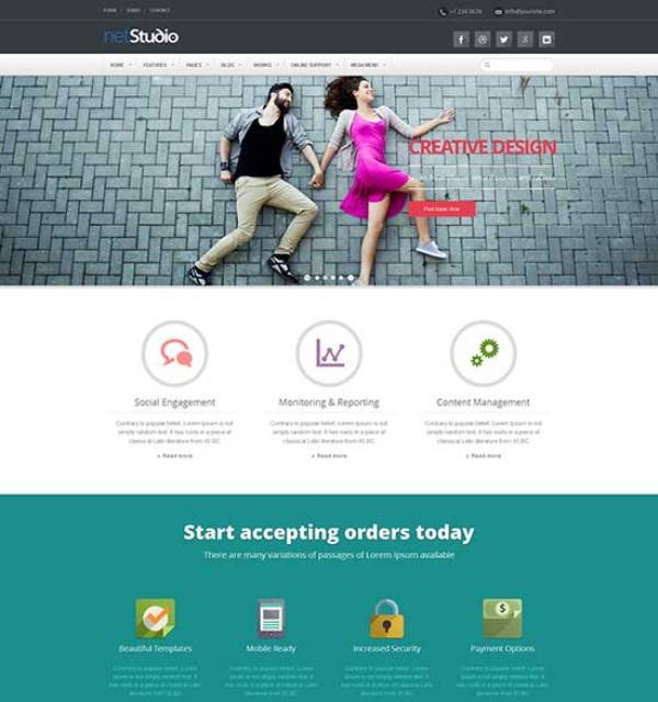 Best Flat Design Website Templates - How to design a website template