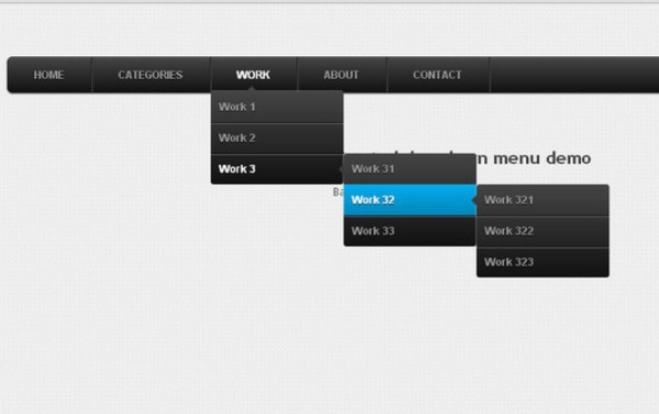 CSS3 animated dropdown menu