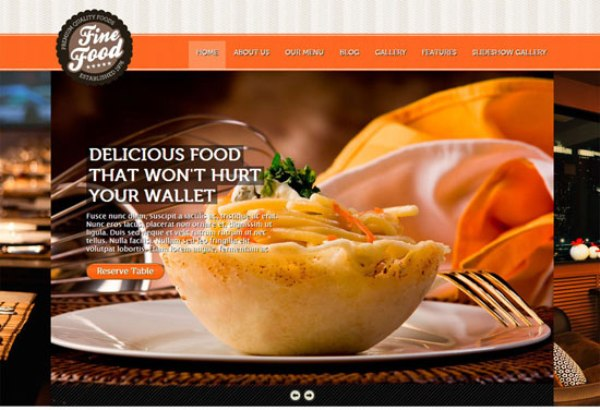 20 high quality restaurant website templates