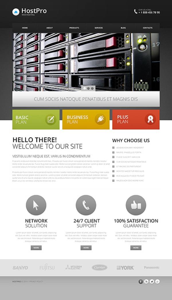 Sleek and Stylish Hosting Responsive Drupal Theme