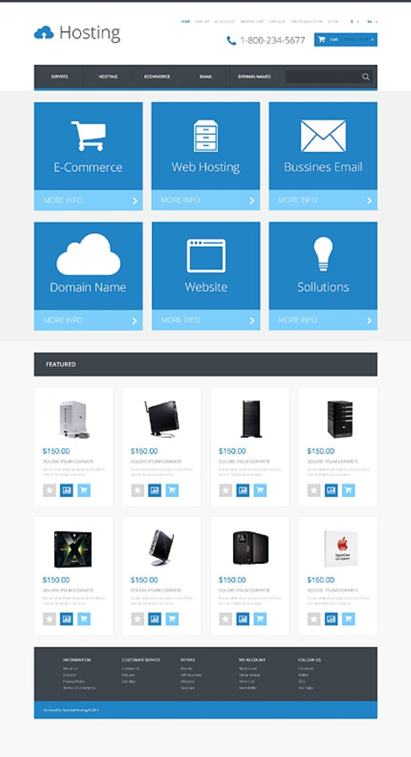 White Cloud Hosting Responsive OpenCart Template