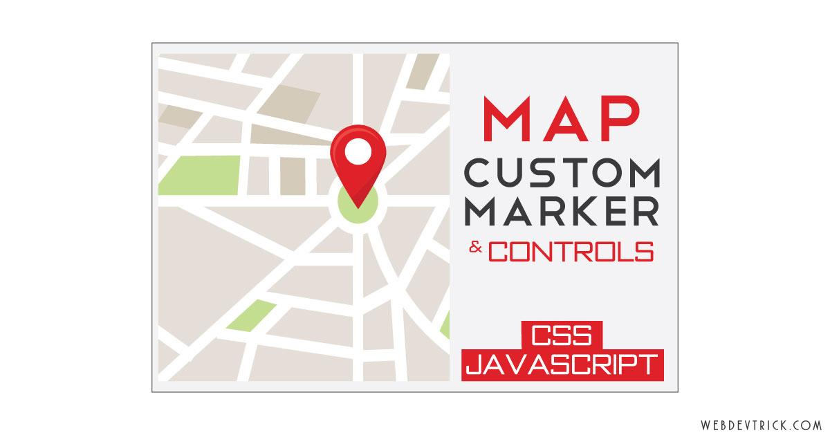 javascript google map marker