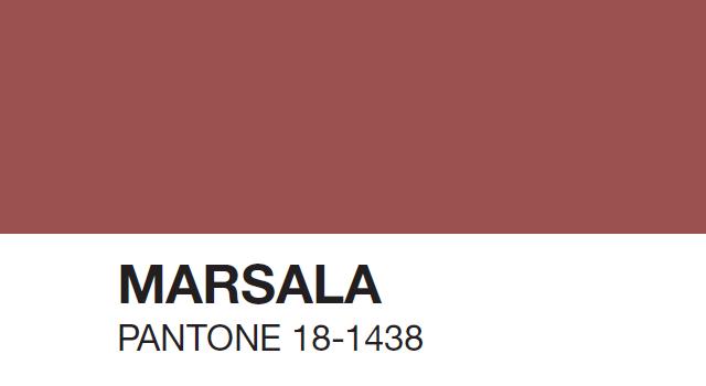 Litur ársins 2015: Marsala Pantone18-1438