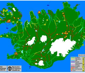 Færð á vegum 9. febrúar 2015 kl. 8:06