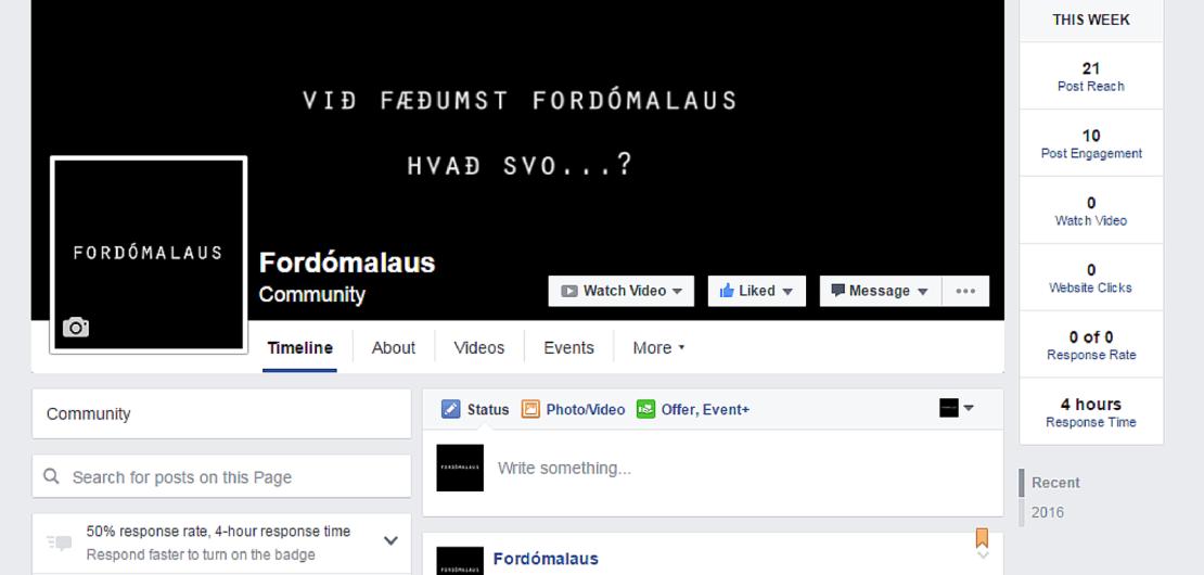 Fordómalaus Facebook síða