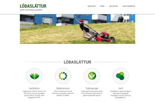 Lóðasláttur.is forsíða