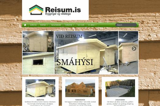 Reisum.is forsíða