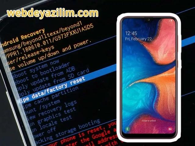 Samsung Galaxy A20 Format Atma