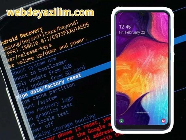 Samsung Galaxy A50 Format Atma