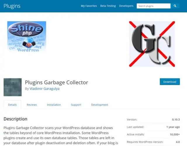 plugins garbage collector