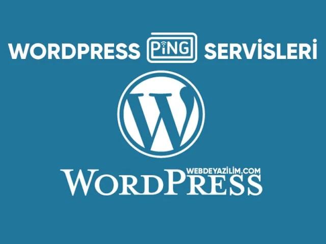 wordpress ping servisleri 2020