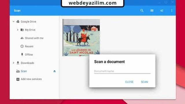 En iyi Belge Tarama Programı - Google Drive Scanner