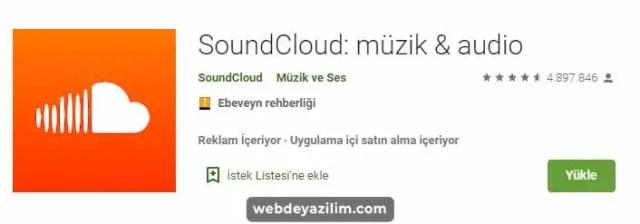 SoundCloud Androide Müzik İndirme Uygulaması