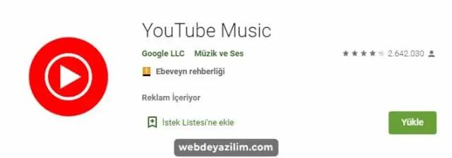 Youtube Müzik İle telefonunuza müzik indirin