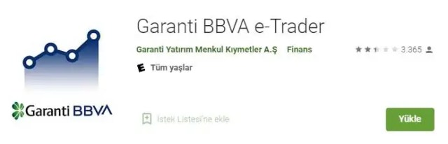 garanti bbva borsa uygulaması