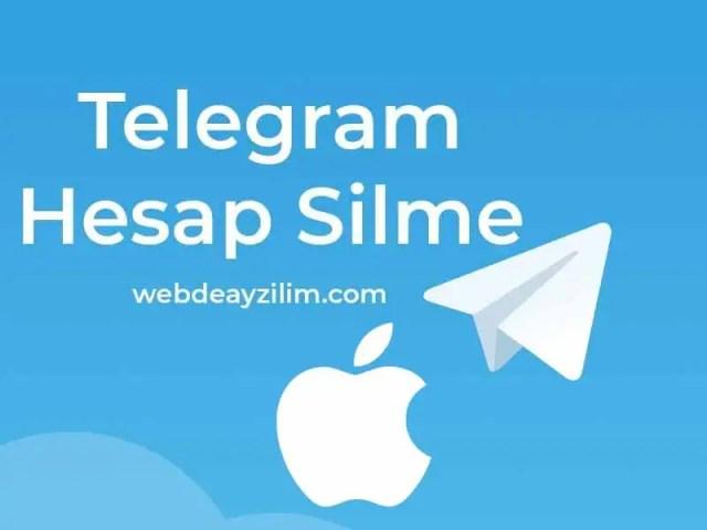 Telegram hesap silme iPhone