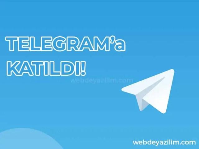 telegrama katıldı bildirimi kimlere gider