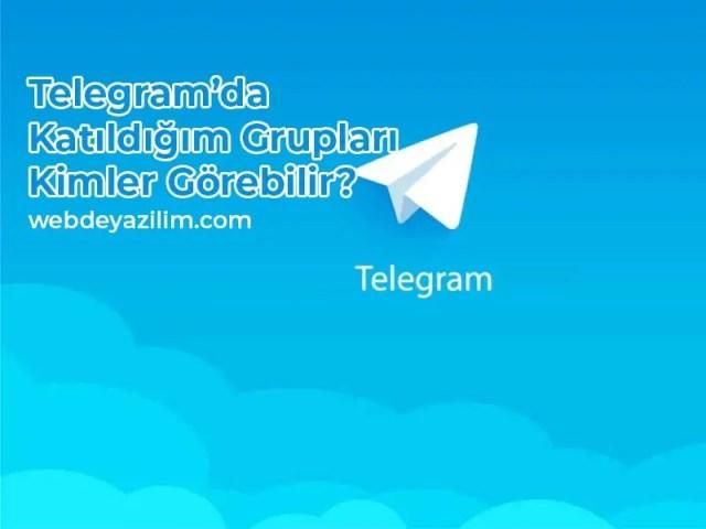 Telegram'da Katıldığım Grupları Kimler Görebilir