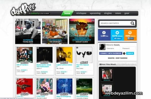 DatPiff - Müzik İndirme Sitesi