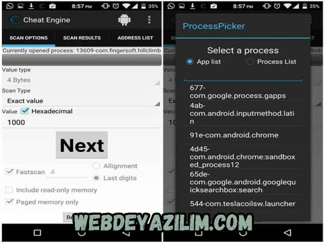 Cheat Engine Android Oyun Hile