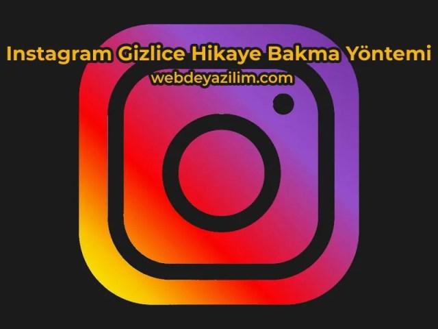 Instagram Gizlice Hikaye Bakma Yöntemi