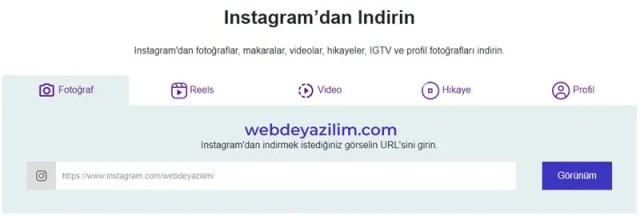 instagram gönderi indirme - resim ve video
