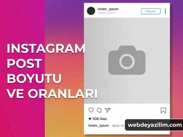 Instagram Post Boyutu ve Oranları