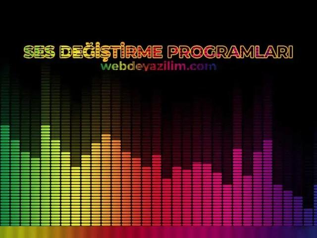 en iyi ses değiştirme programı