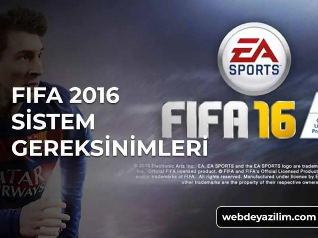 Fifa 16 Sistem Gereksinimleri - FIFA 2016