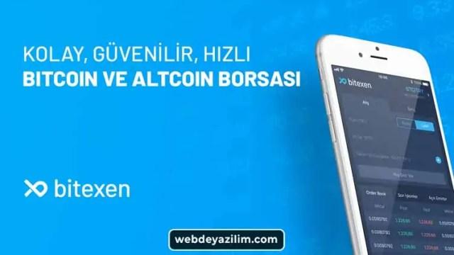bitexen türk kripto para borsası