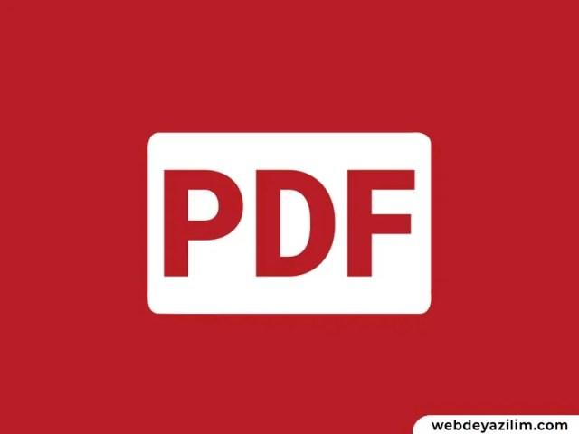 Bilgisayarda PDF Oluşturma Rehberi
