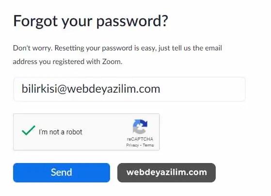 Zoom Şifre Sıfırlama Adımları