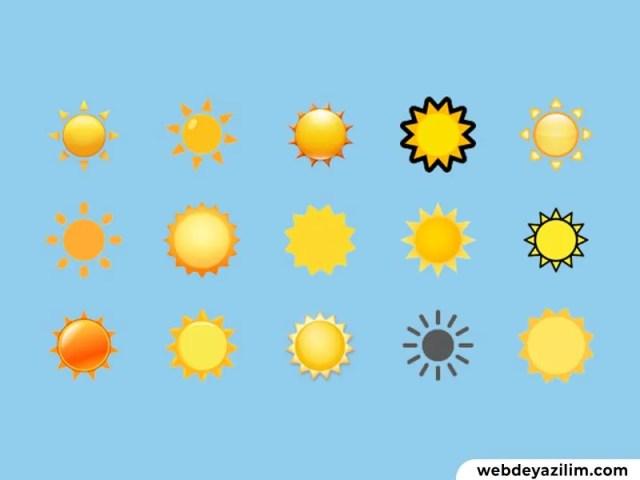 Güneş Emojisi ☀️ Güneş Emojisi Kopyalama ve Yapımı
