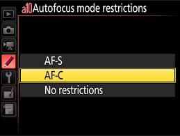 Autofokus AF-C