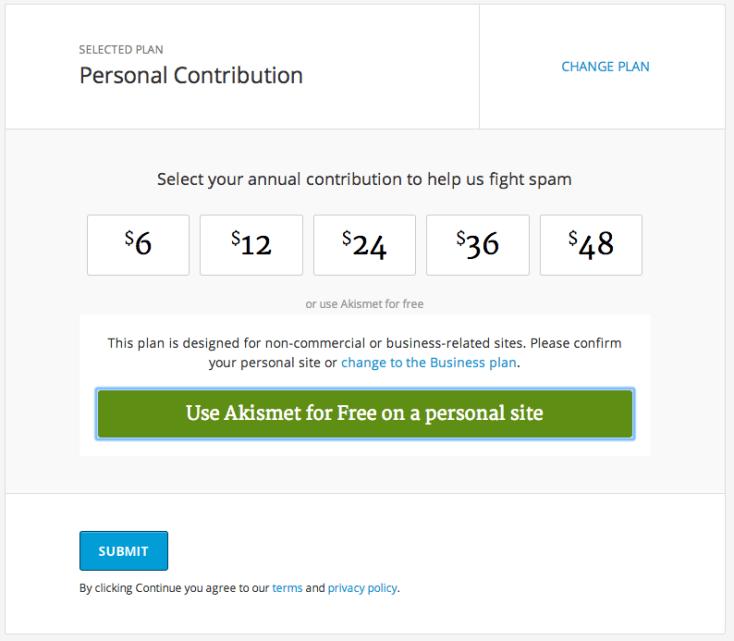 Akismet - Contribución Personal
