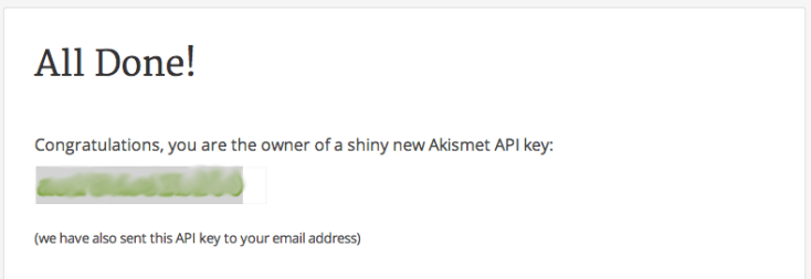 Akismet - Clave API