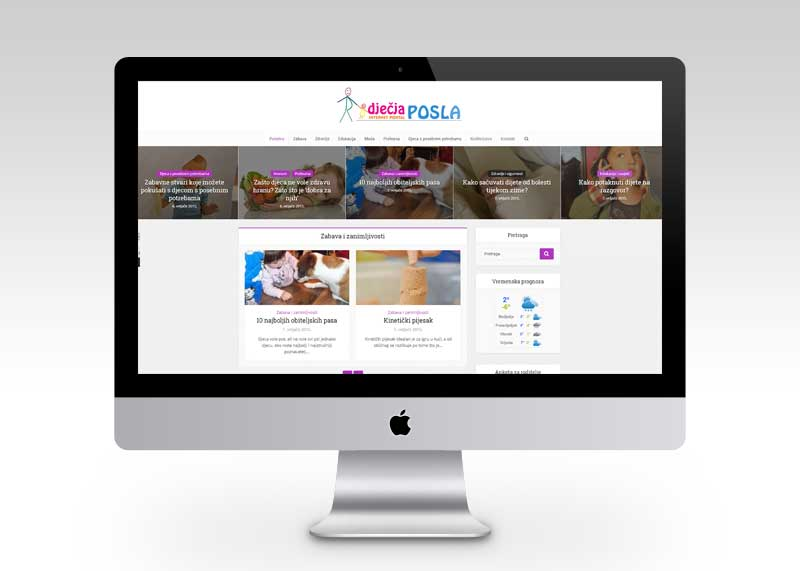 Web portal za djecu i roditelje