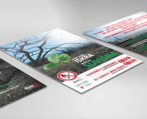 Dizajn kampanja za protupožarnu sezonu izrada letaka