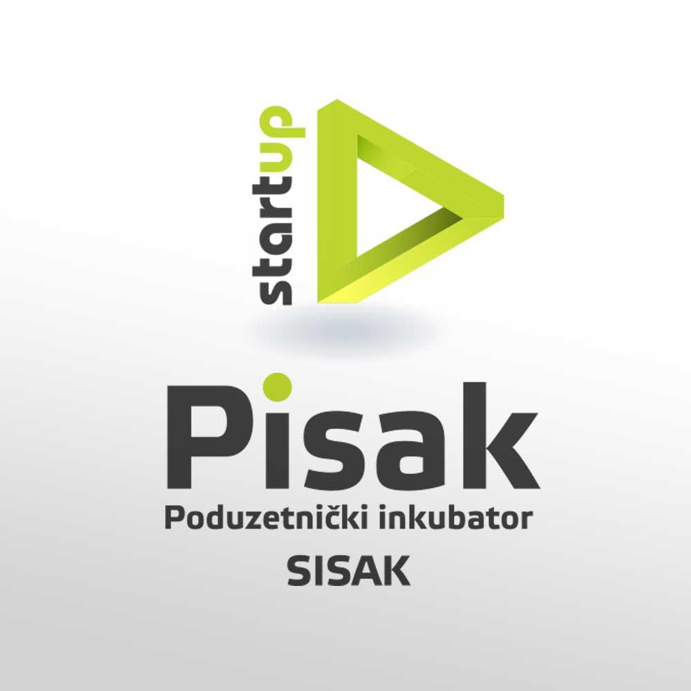 Logotip za poduzetnički inkubator Pisak