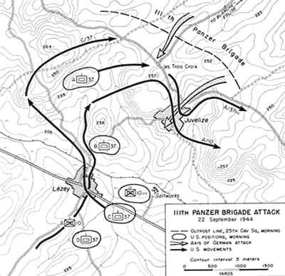 Chapter V: The German Counterattack in the XII Corps Sector