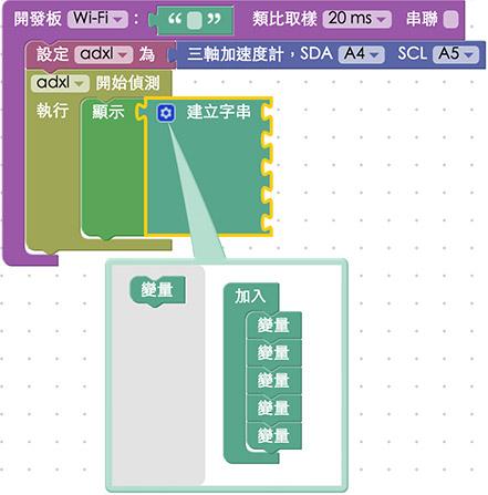 教學範例 23:三軸加速度計 :::: Webduino = Web × Arduino