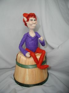 """Long Leg Elf"" needle felted art doll"