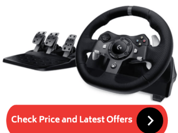 Xbox One Steering Wheel with Clutch and Shifter