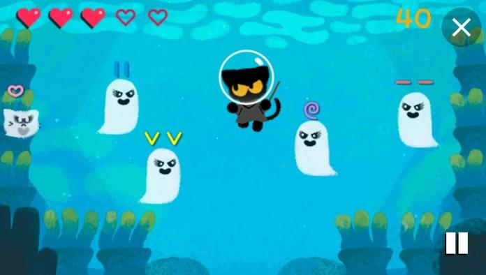 Google Halloween game