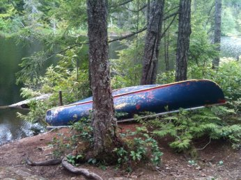 Canoe at Peden Lake. Stop sinking it guys, seriously...