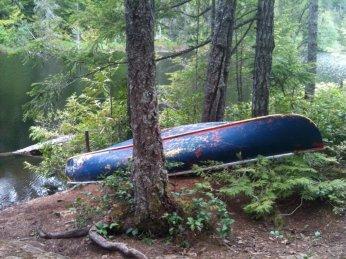 Canoe at Peden Lake. Stop sinking it guys, seriously...