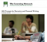 500 prompts with links to related Times articles