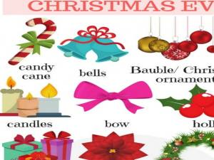 Christmas Vocabulary | Learn English with Pictures - 7 E S L